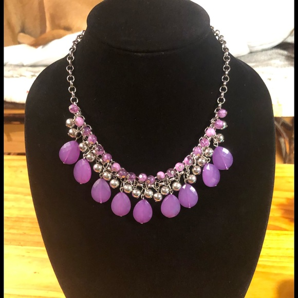 Jewelry - 5/$25 Purple Passion Cascading Necklace